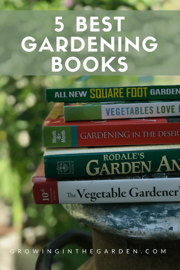 5 Best Gardening Books #gardening #books #gardenbooks