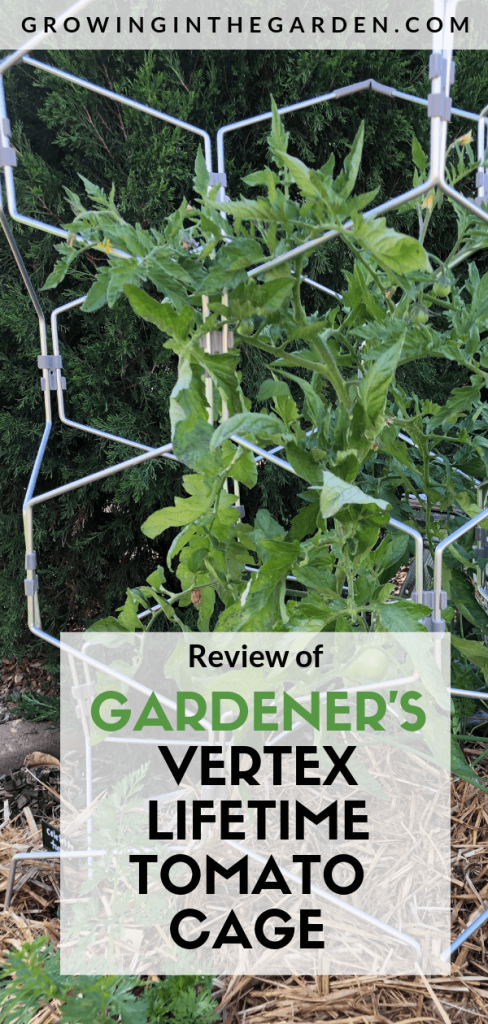 Review of Gardener's vertex lifetime tomato cage