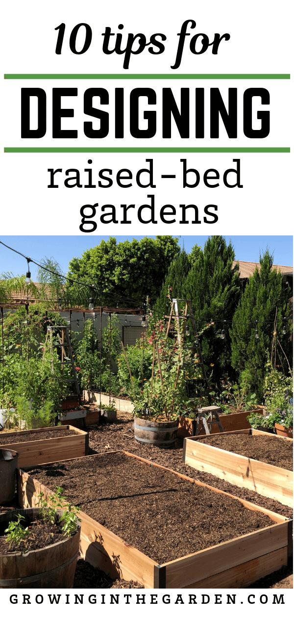 Image of: Raised Bed Garden Design Tips Growing In The Garden