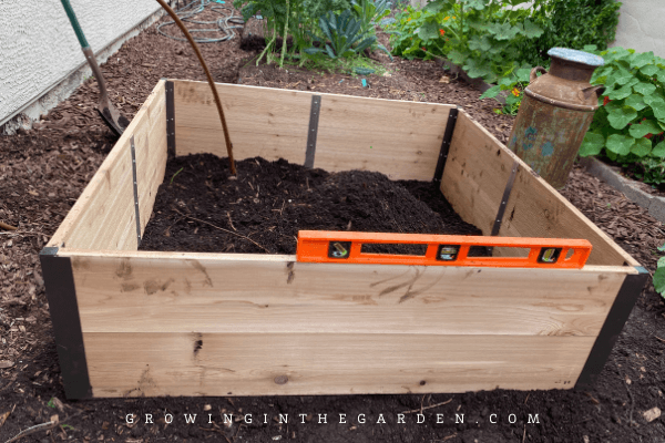 Make sure new garden beds are level